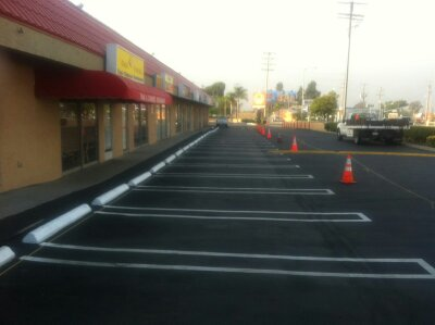 Resurfacing Asphalt Parking Lot and Striping