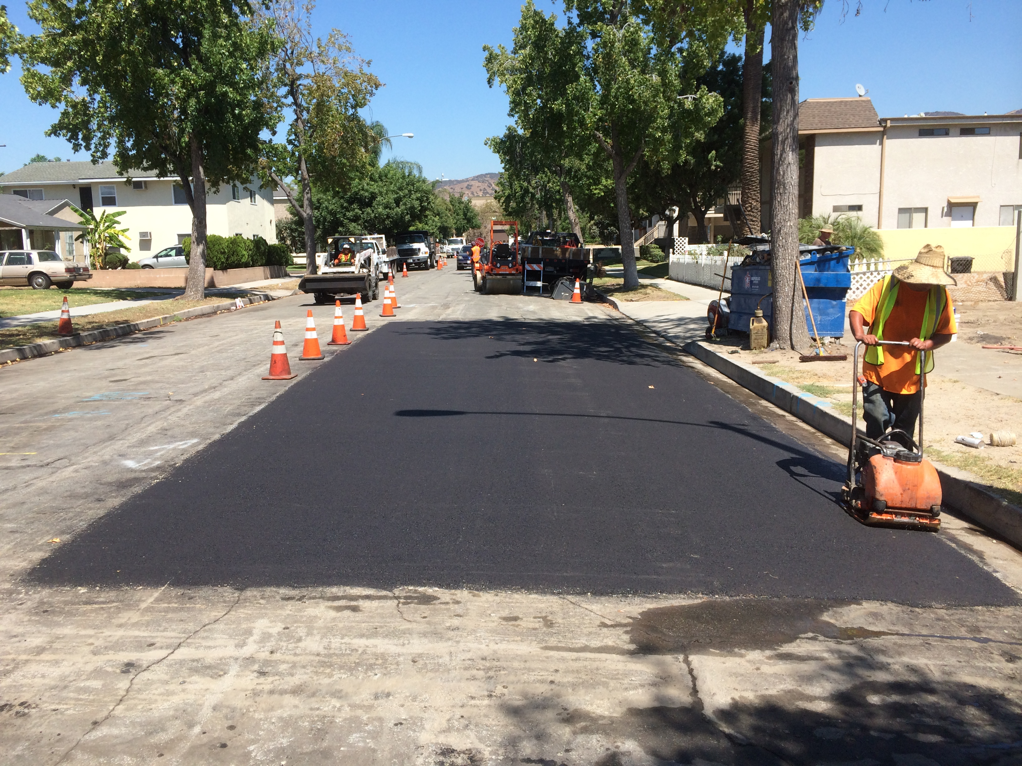 Grinding Paved Street