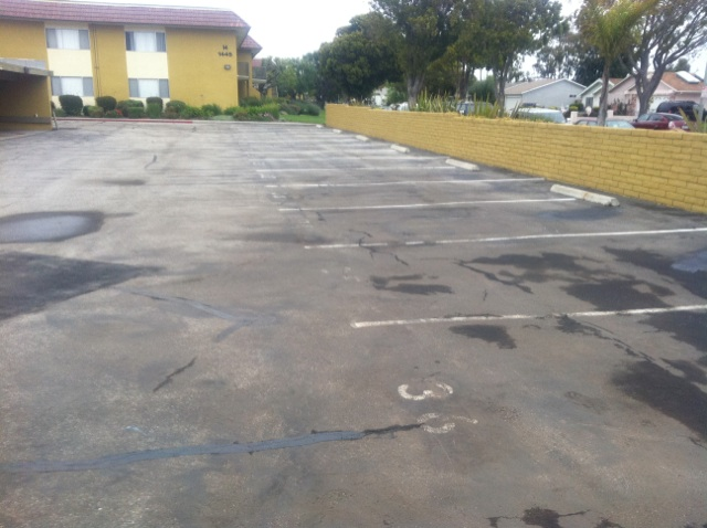 Seal Coat and Striping Parking Lot