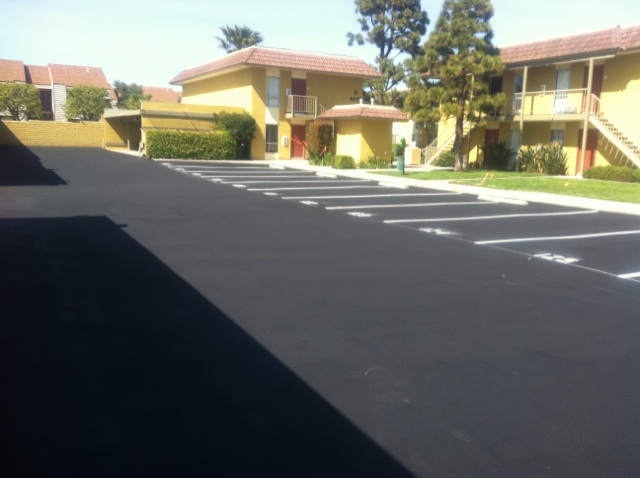 Seal Coat and Striping Pavement